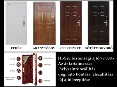 Hi-Sec Biztonsági ajtók